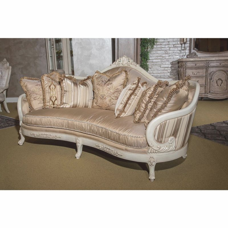 Aicomichael Amini - Villa Di Como Standard Sofa In Moonlight - 9053815-Cream-115 with regard to Lovely Michael Amini Living Room Furniture