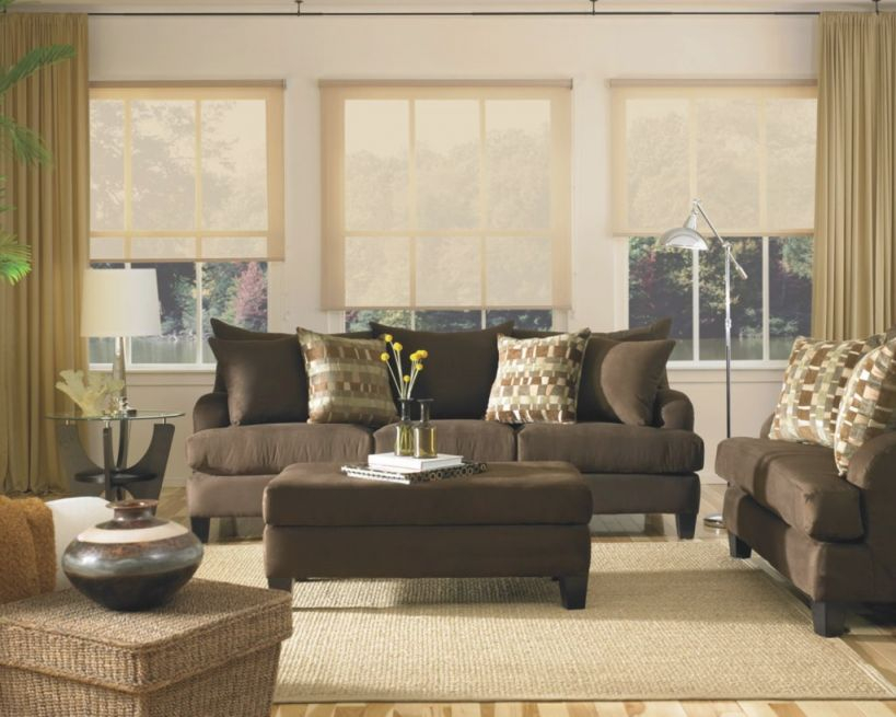 Airy Brown And Cream Living Room Designs Inspired From pertaining to Best of Curtains For Living Room With Brown Furniture