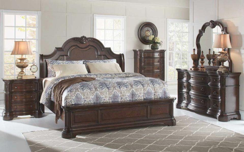 Alexandria 5 Piece King Bedroom Set regarding Luxury Bedroom Sets King