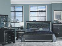 Allura Black Upholstered Panel Bedroom Set inside Fresh Bedroom Set With Vanity
