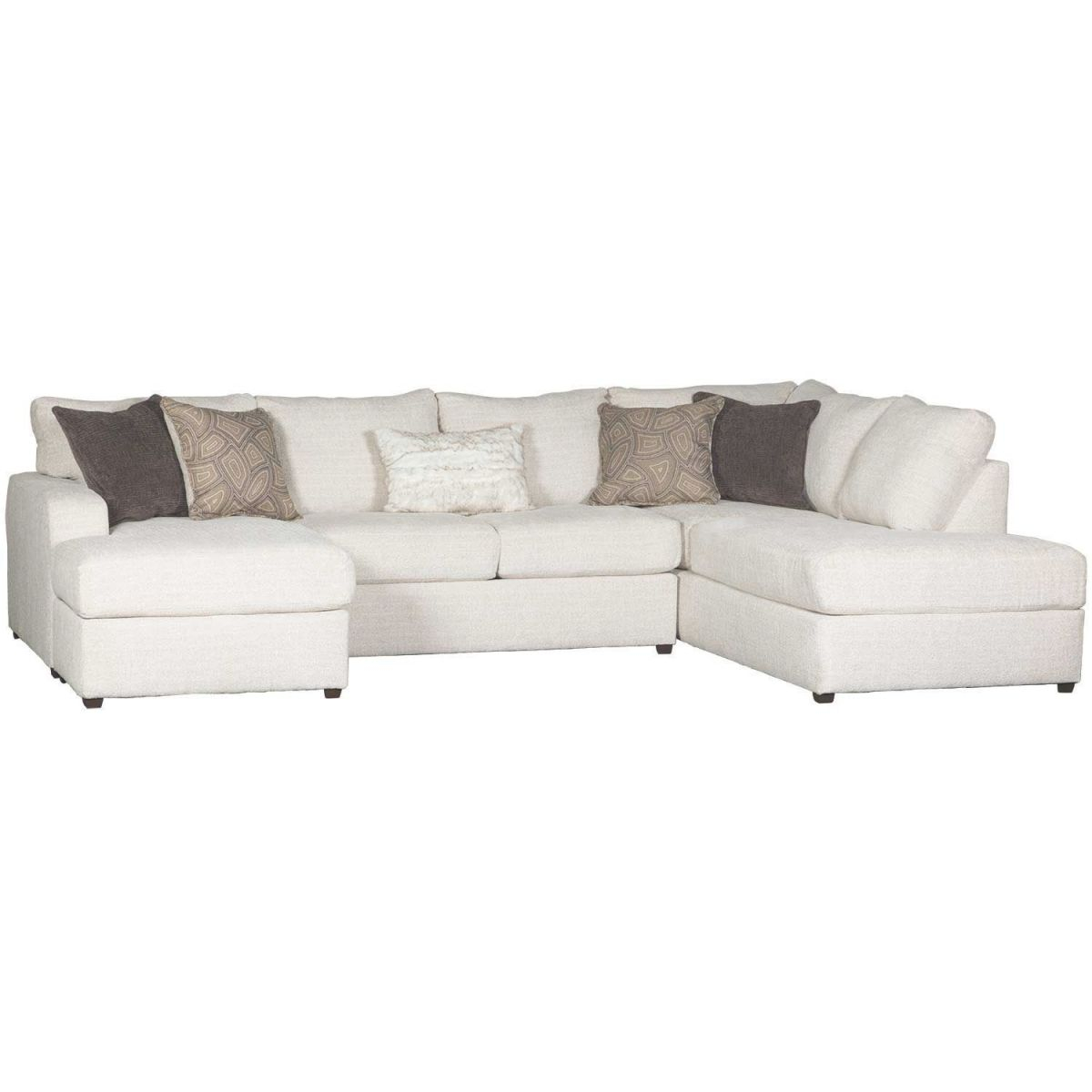 Amplify Beige 2 Piece Laf Sofa Chaise Sectional for Elegant 2 Piece Sectional With Chaise