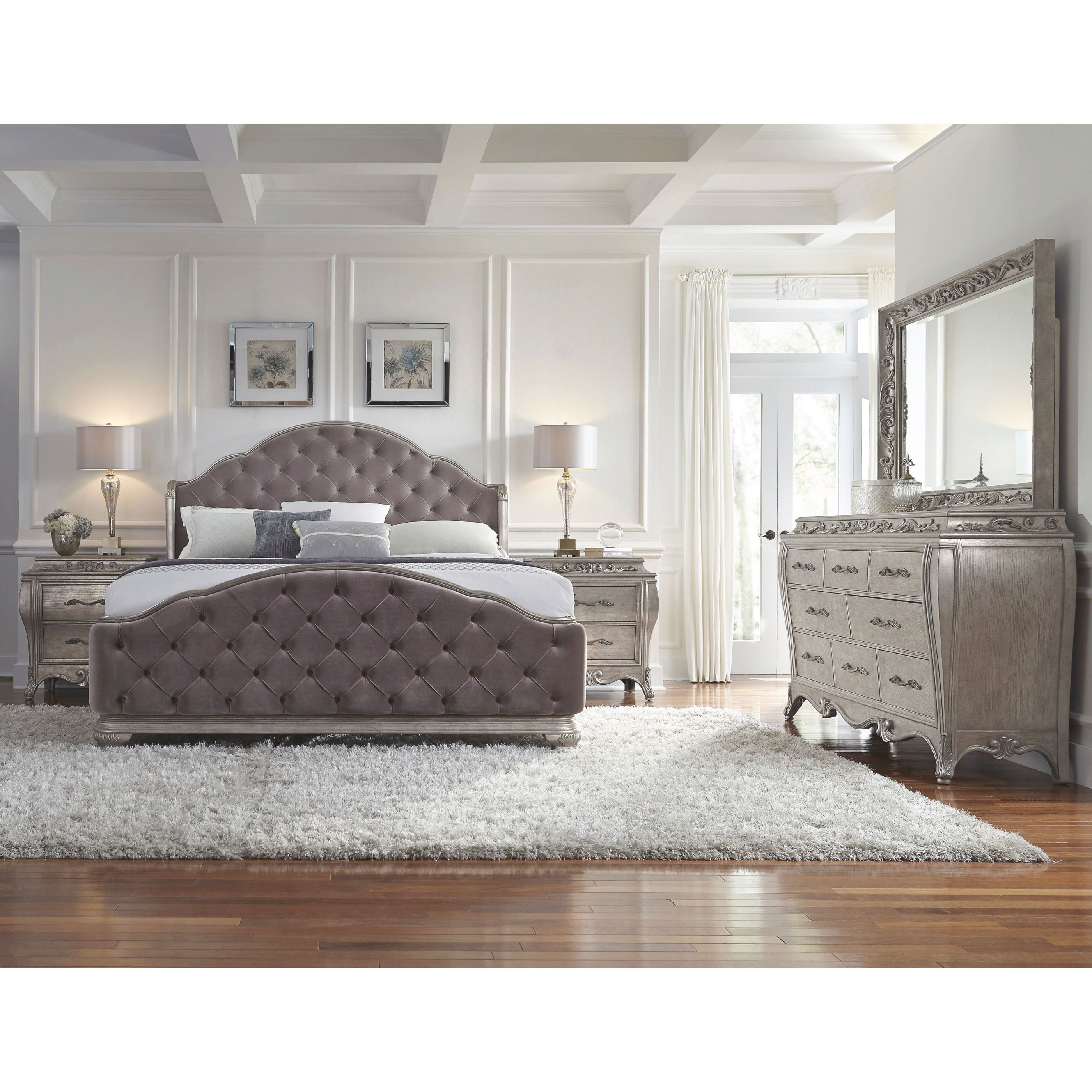 Anastasia 6-Piece King-Size Bedroom Set pertaining to Bedroom Sets King