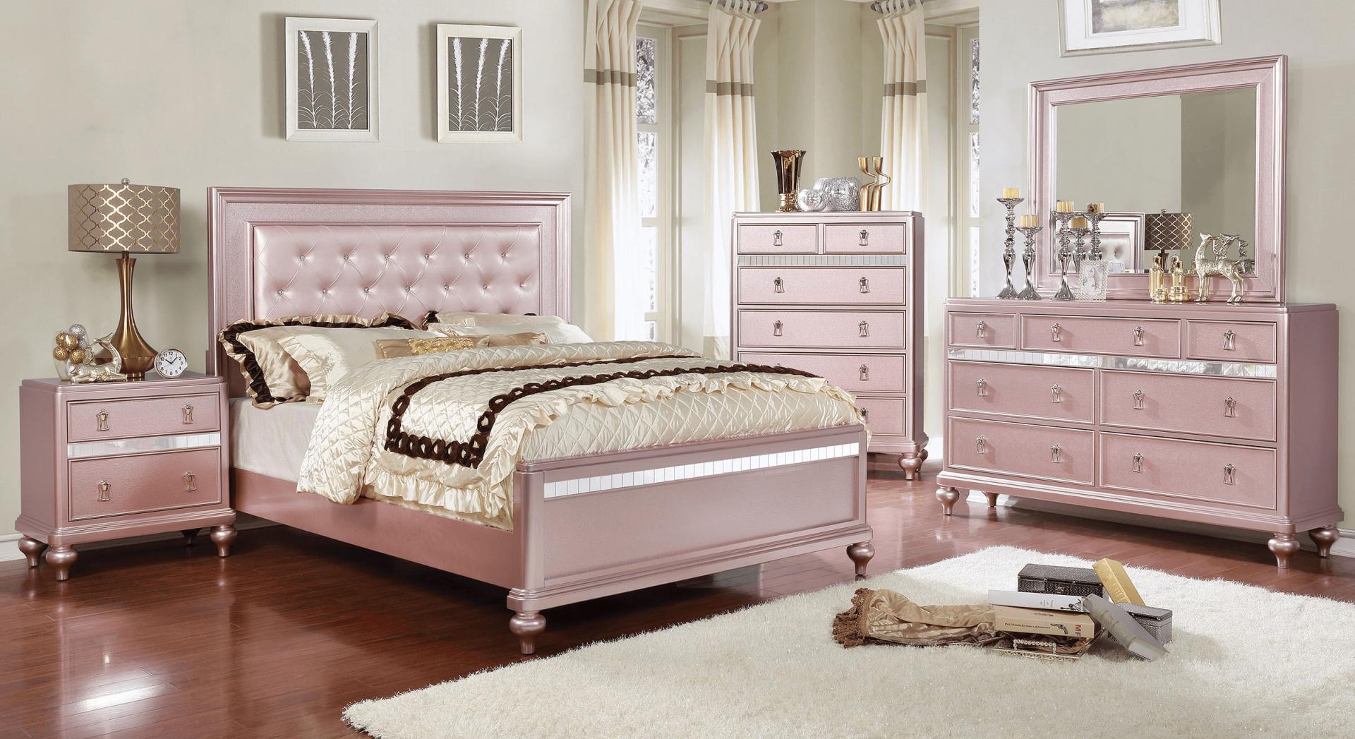 Ariston Rose Gold Bedroom Set for Fresh Gold Bedroom Furniture Sets
