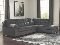 Ashley Furniture Accrington 2 Piece Sectional With Raf Chaise In Granite with Elegant 2 Piece Sectional With Chaise