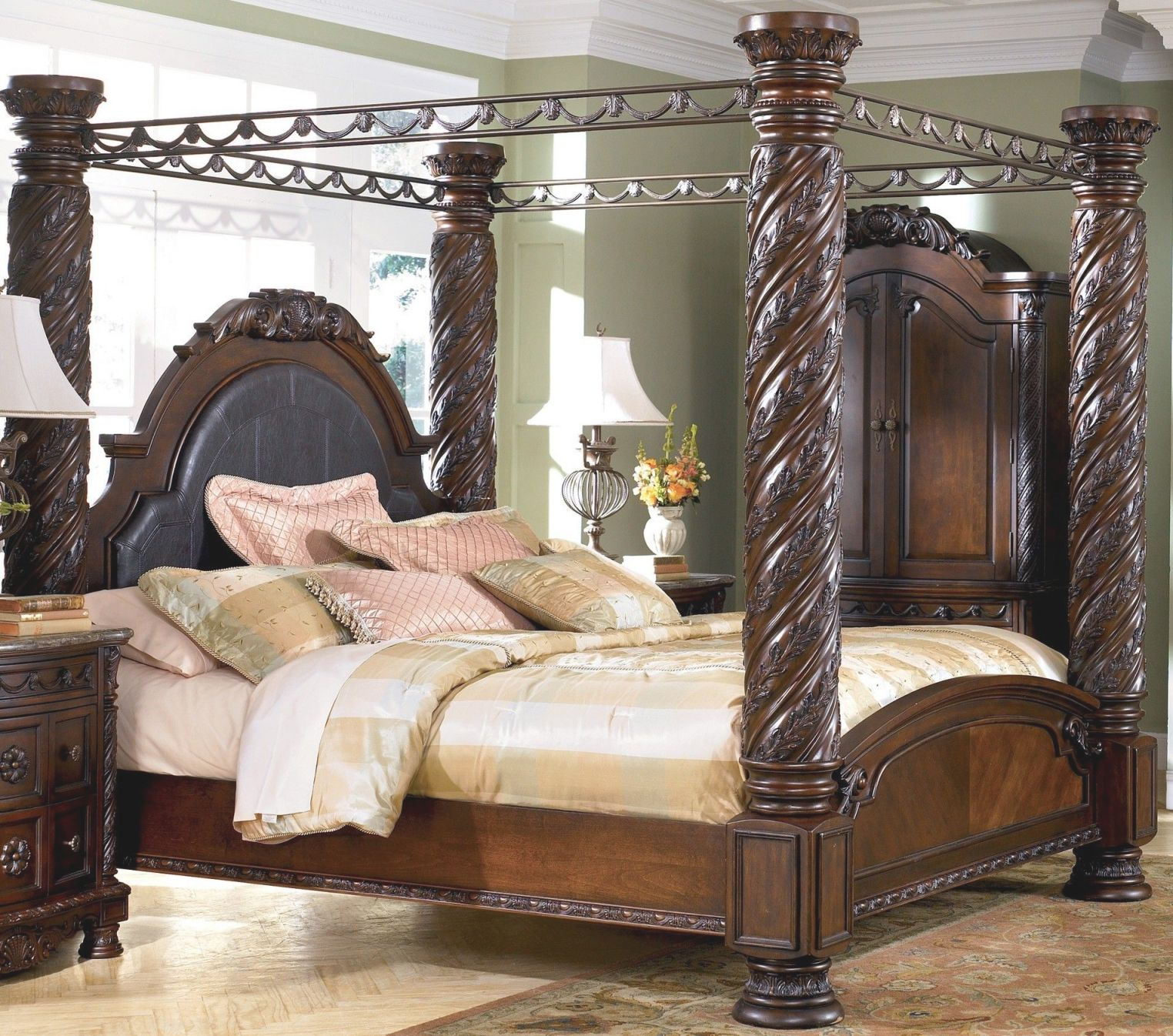 Ashley Furniture Bedroom King Bedroom Sets Canopy With Regard