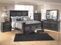 Ashley Furniture Cavallino Bedroom Set With Mansion Poster pertaining to Black Bedroom Furniture Set