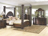 Ashley Furniture North Shore Poster Bedroom Set In Dark Brown with Ashley Furniture North Shore Bedroom Set