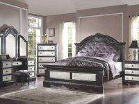 Athena Silver 4 Pc Bedroom Set With Vanityacme Furniture intended for Bedroom Set With Vanity