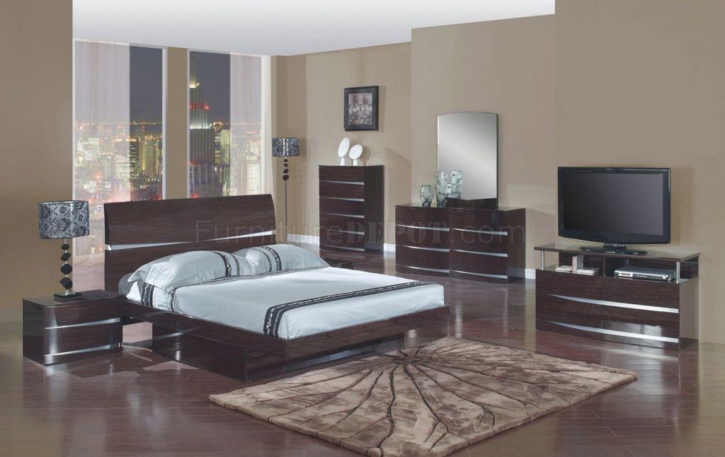 Aurora Bedroom Set In Wenge Finishglobal Furniture for New Modern Bedroom Furniture Sets