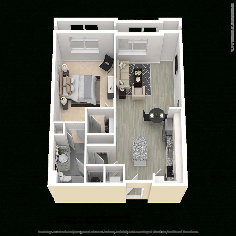 Avra A1 Hc One Bedroom Apartment Floor Plan | Center/west with regard to One Bedroom Apartment Floor Plans
