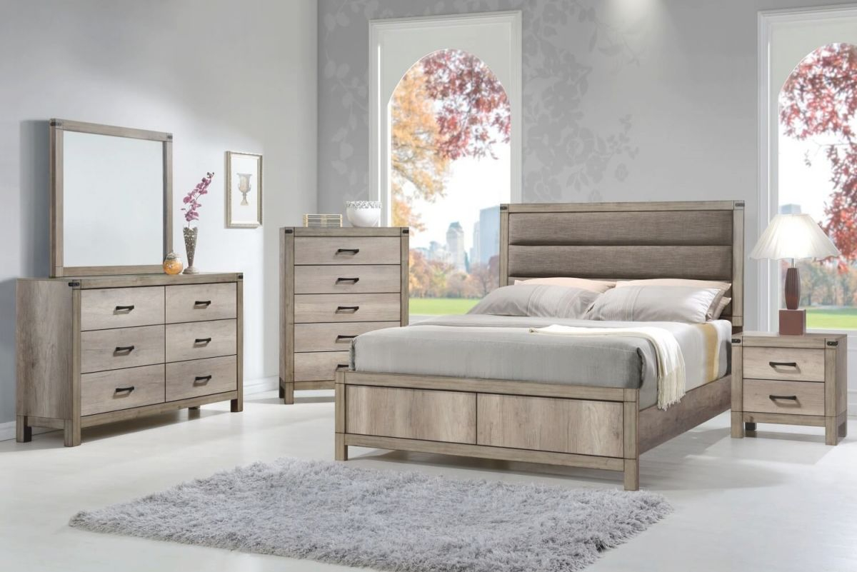 B3200 Matteo Rustic Bedroom Setcrown Mark within Rustic Bedroom Furniture Sets