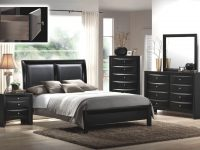 B4280 Crown Mark Emily Black Bedroom Set inside Queen Size Bedroom Furniture Sets