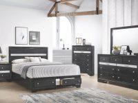 B4670 Regata Black Storage Bedroom Set regarding Black Bedroom Furniture Set