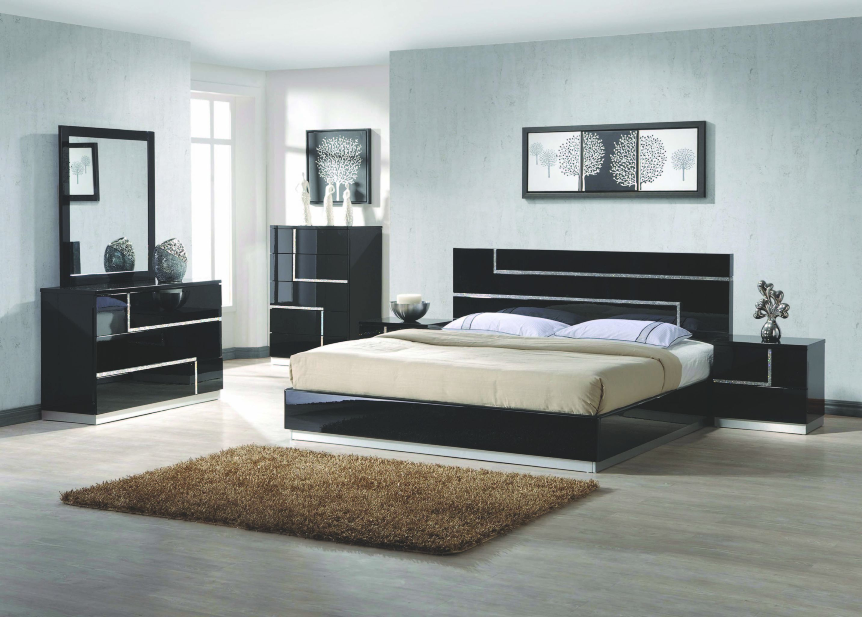Barcelona Modern Bedroom Set California King Size Bed 4Pc ...