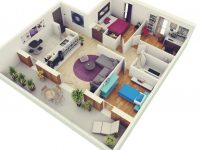 Bedroom Apartment House Plans – House Plans | #87227 throughout Luxury Three Bedroom Apartment