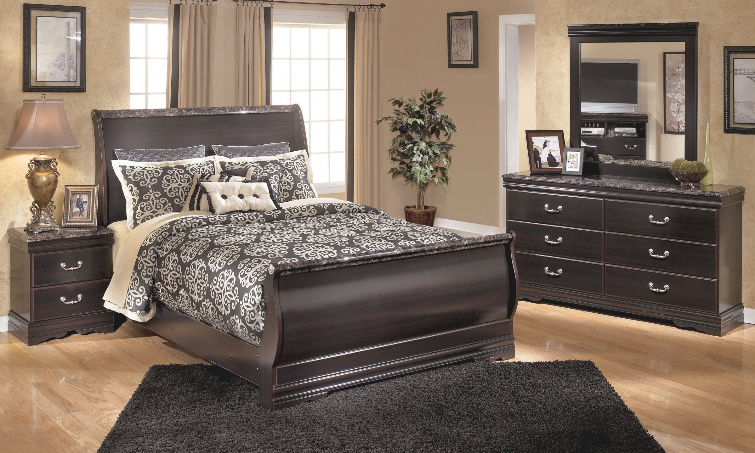 Bedroom Design Ashley Sleigh Furniture Porter Collection Within
