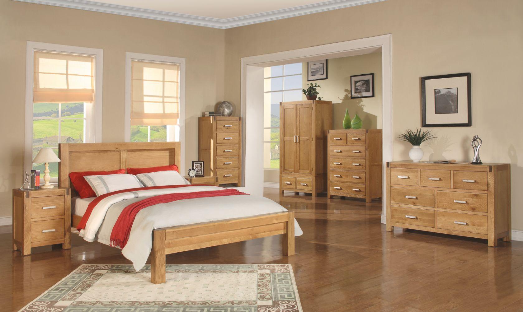 Bedroom Design : Mirrored Set Solid Oak Furniture Hardwood inside Luxury Full Size Bedroom Furniture Sets