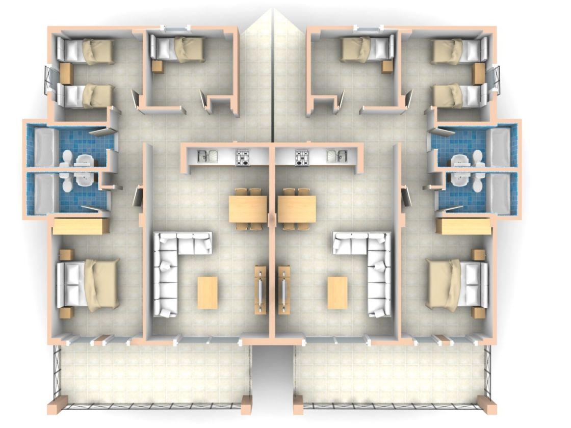 Bedroom Flat Floor Plan Apartment – House Plans | #1678 regarding Three Bedroom Apartment