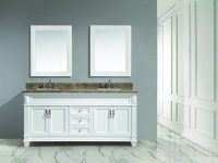 """Bedroom Furniture Dec059D-W-W Hudson 72 """" Double Sink Vanity Set In White With White Carrara Marble Countertopdesing Element Selections intended for Bedroom Set With Vanity"""