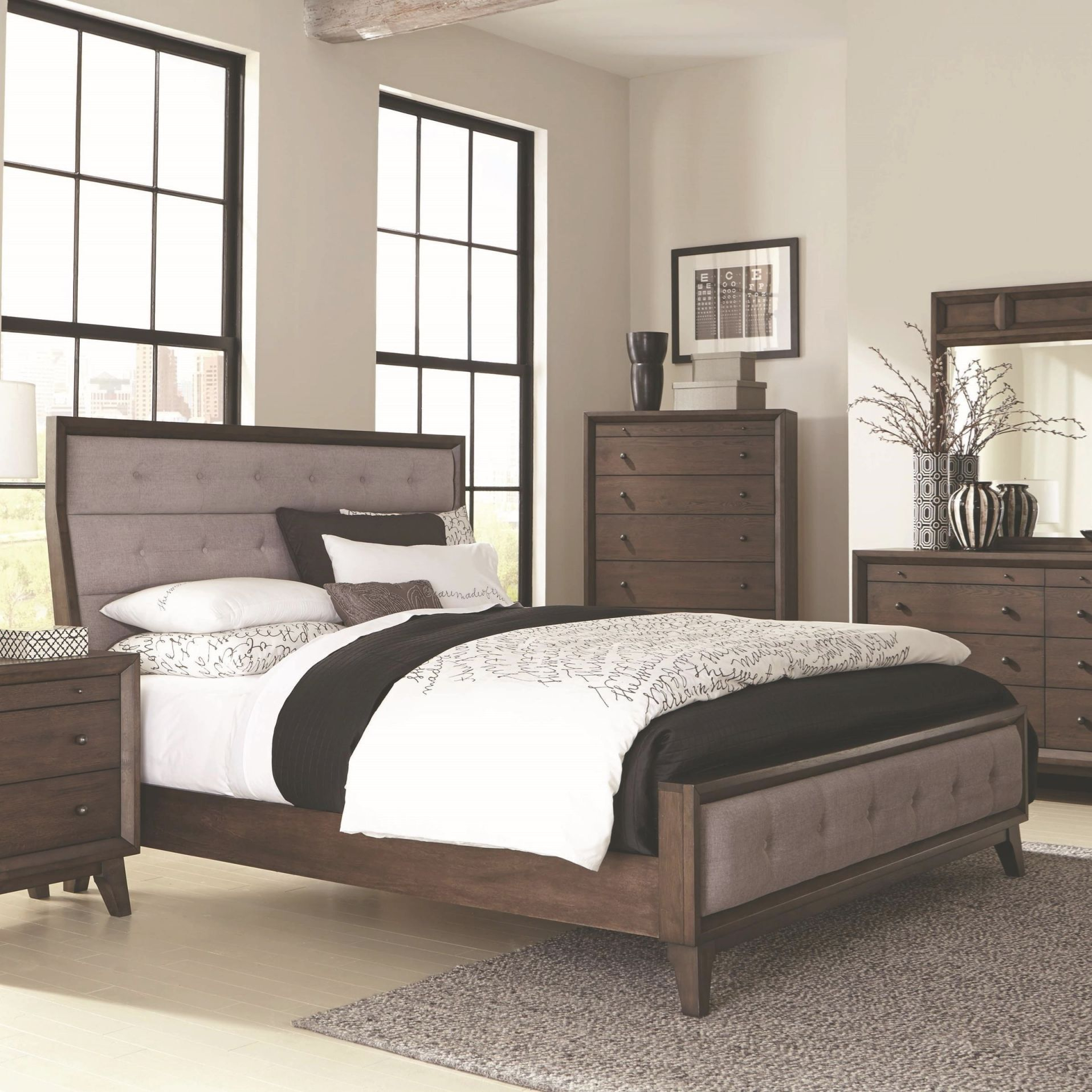 Bingham King Upholstered Bedcoaster At Northeast Factory Direct within Full Size Bedroom Furniture Sets