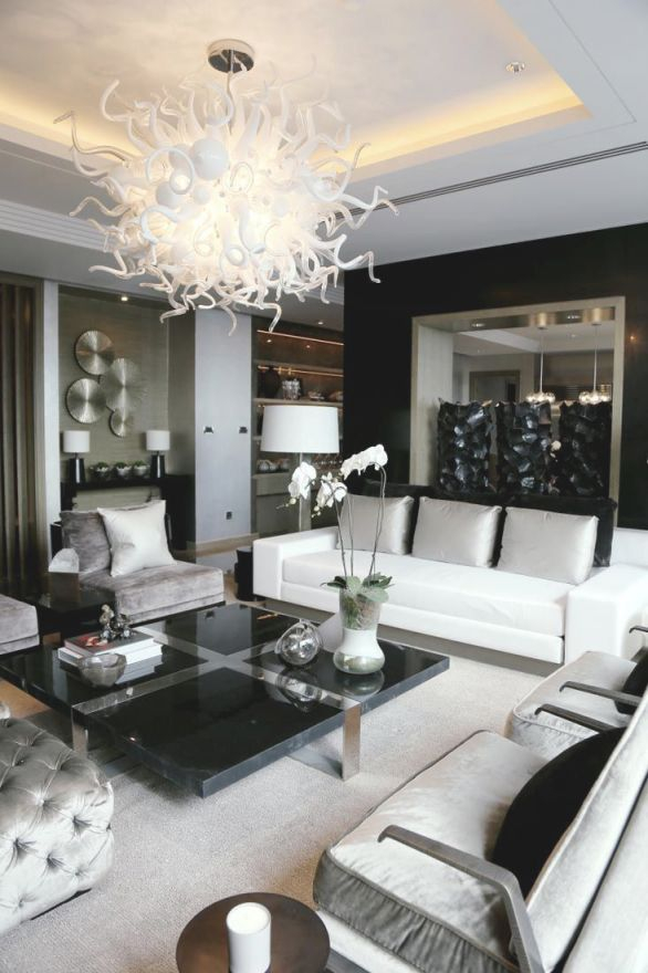 Bookcases : Elegant Monochrome Living Area Black Tempered with Elegant Monochrome Living Room Decorating Ideas