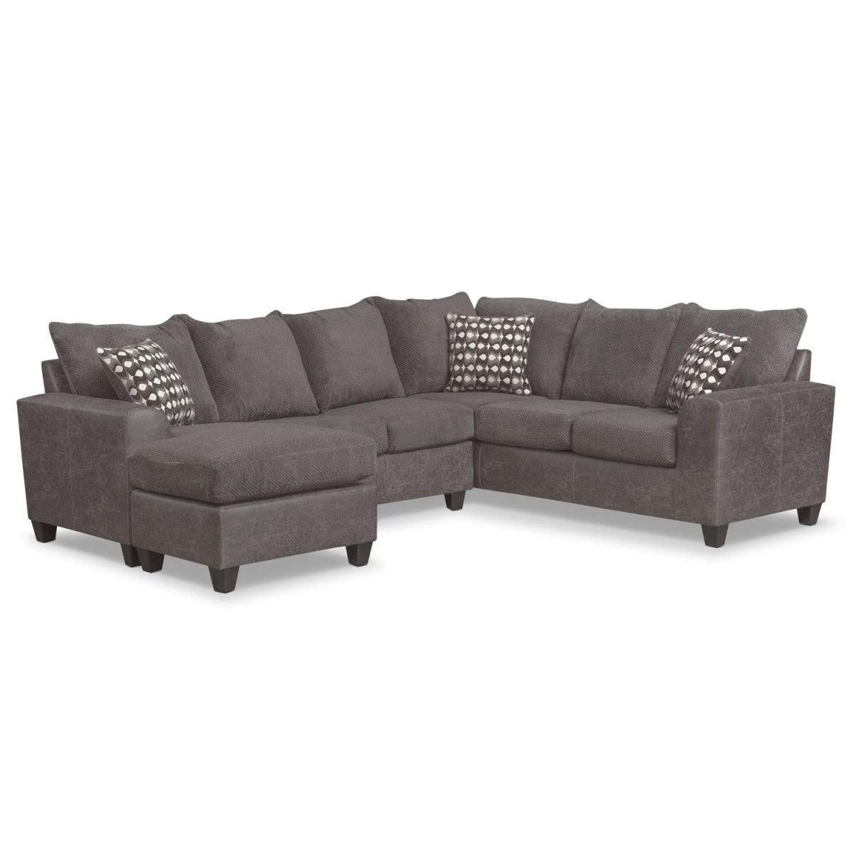 Brando 3-Piece Sectional With Modular Chaise inside 3 Piece Sectional Couch