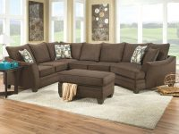 Brown Couch With Cuddler | Flannel Chocolate 3 Piece pertaining to 3 Piece Sectional With Cuddler