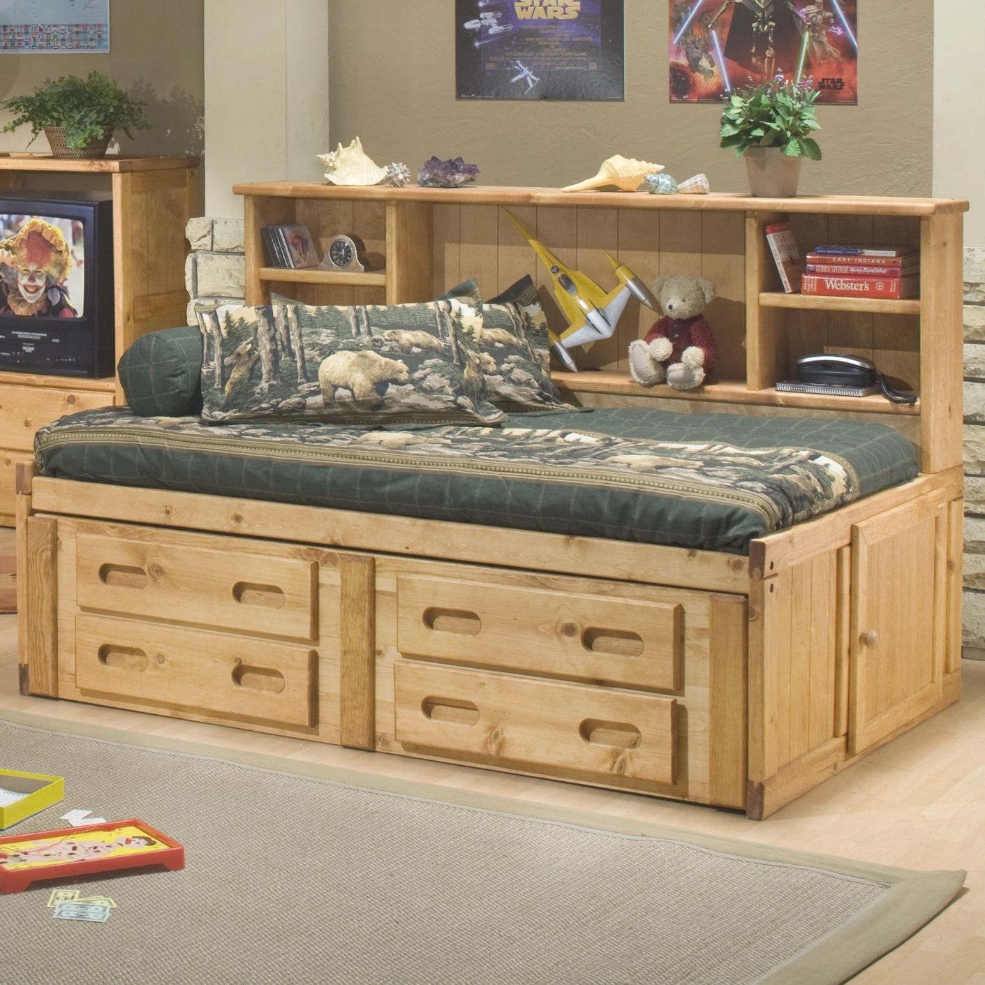 Bunkhouse Full Cheyenne Captain's Bed With Underdressertrendwood At John V Schultz Furniture regarding Luxury Full Size Bedroom Furniture Sets