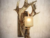 cabin-theme-bathroom-vanity-lights-antler