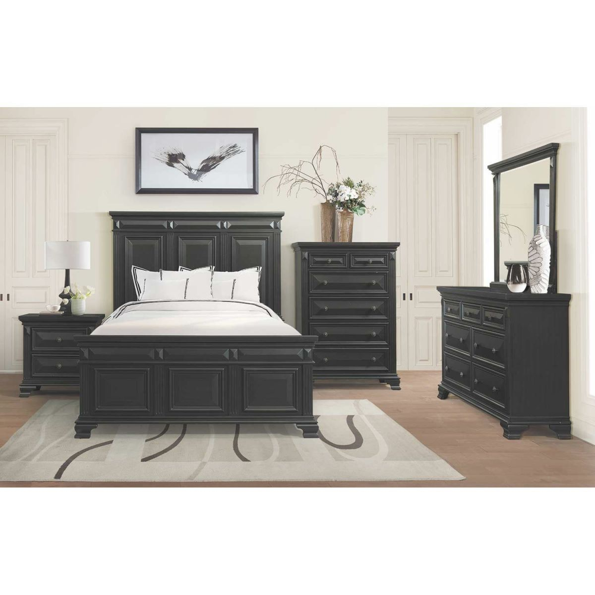 Calloway 5 Piece Bedroom Set within Bedroom Set With Desk