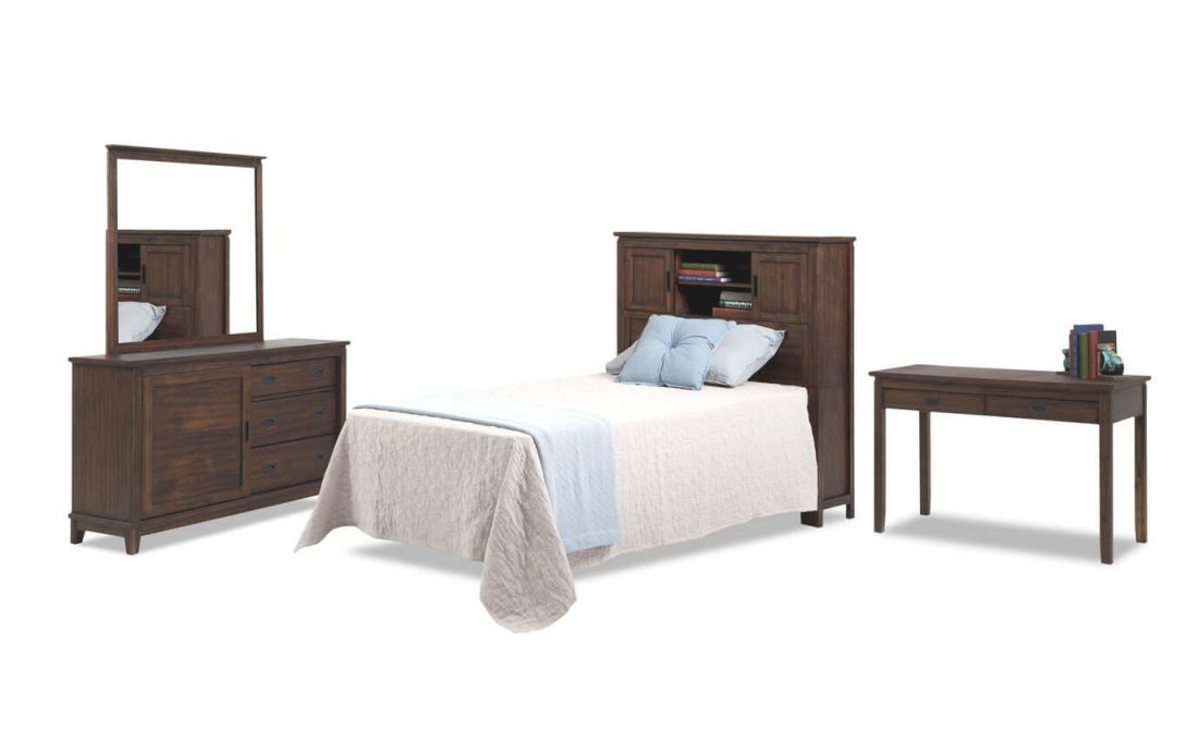Chadwick Twin Bookcase Bedroom Set With Desk pertaining to Best of Bedroom Set With Desk