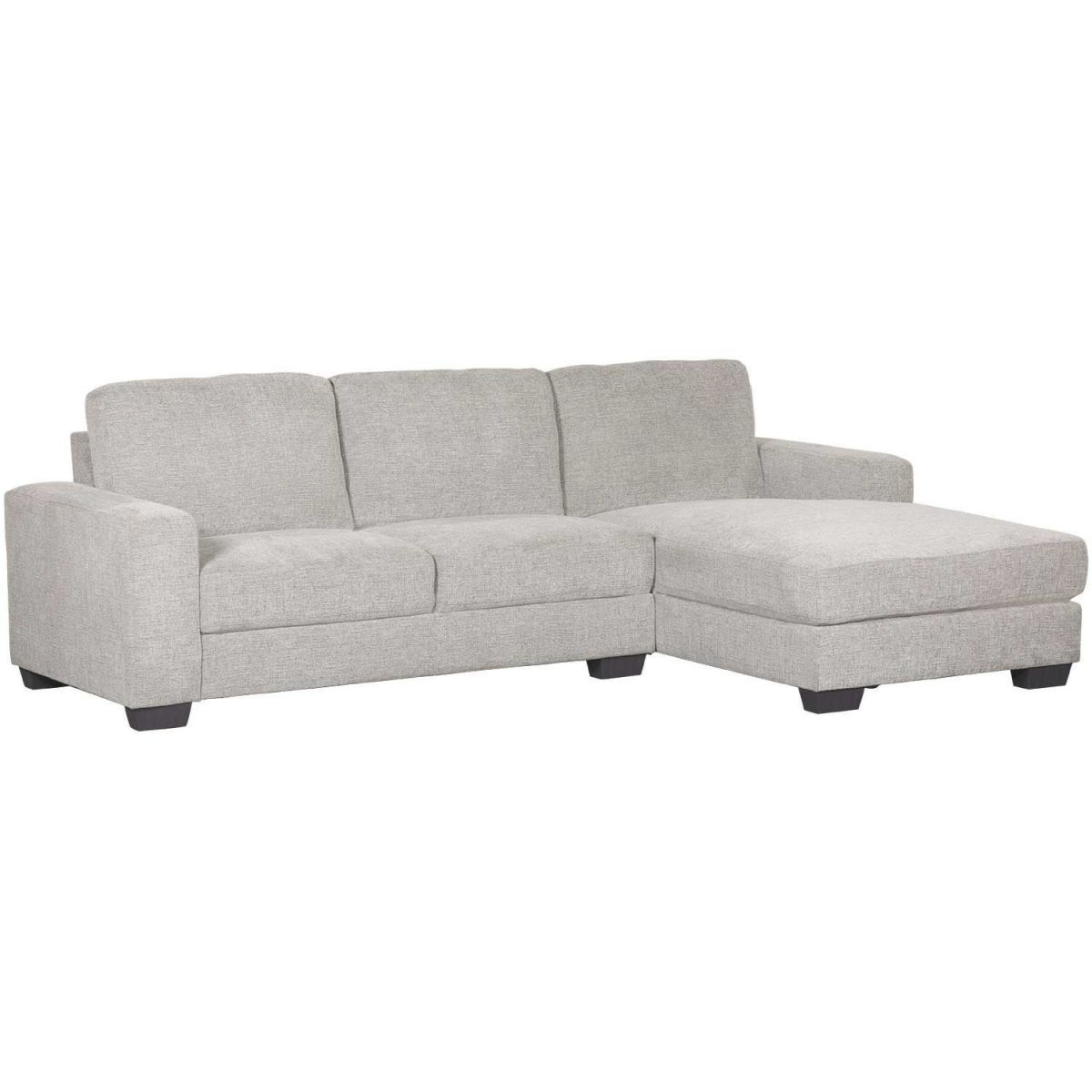 Charleston Light Gray 2 Piece Sectional in Elegant 2 Piece Sectional With Chaise