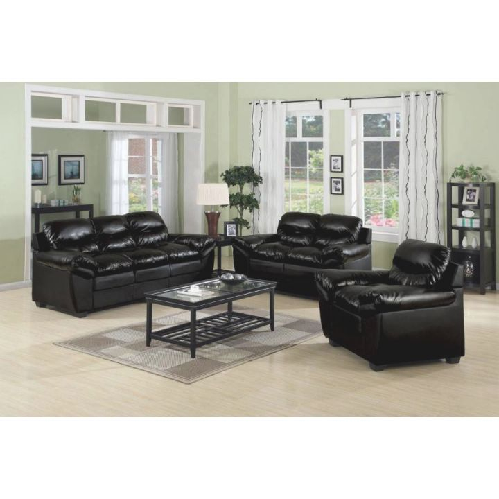 Charming Black Leather Couch Decorating Ideas Furniture Throughout