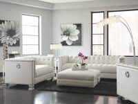 Details About Samuel Cream Off White Bonded Leather Living ...