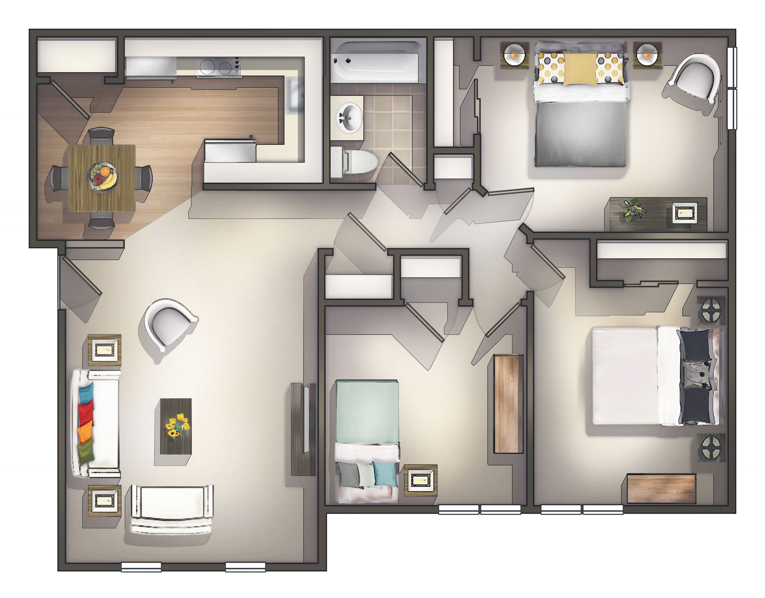 Cheap 3 Bedroom Apartment   Homswet with Three Bedroom Apartment