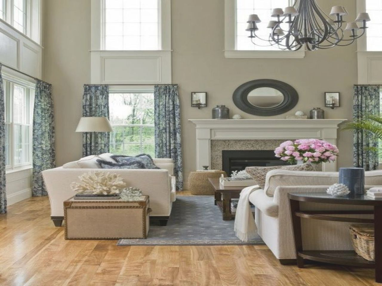 cheap simple living room of 2 story family room decorating