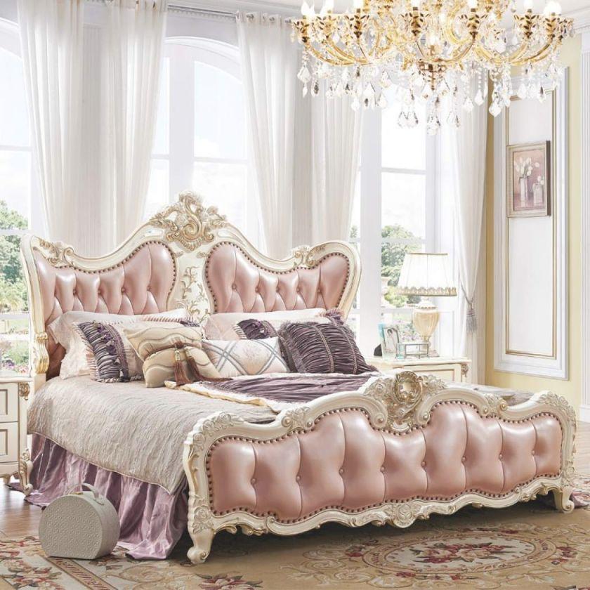 China New Design Popular Solid Wood Oak Wedding Bedroom Furniture Set With Bed, Wardrobe, Nightstand, Dresser And Dressing Stool throughout Luxury Oak Bedroom Furniture Sets