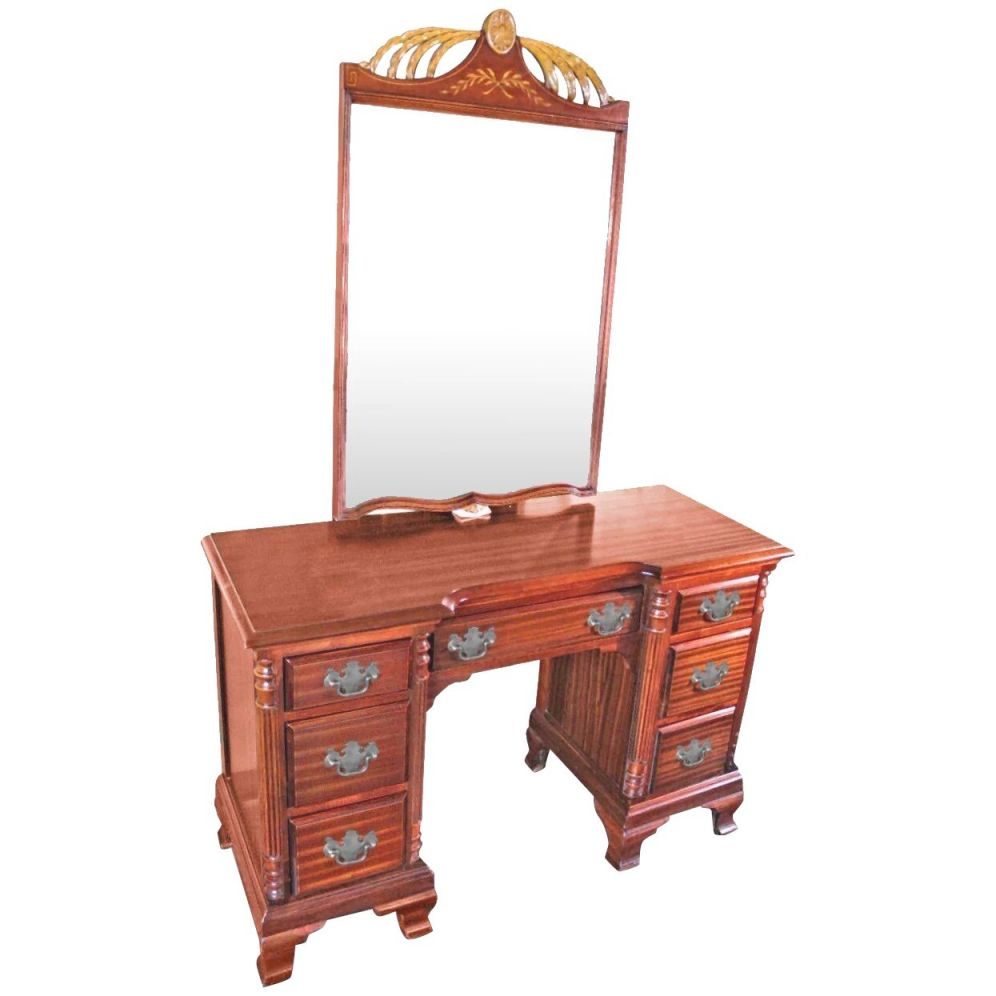 Chippendale Mahogany Vanity Writing Table Desk Console Bedroom Set Side End with Bedroom Set With Desk