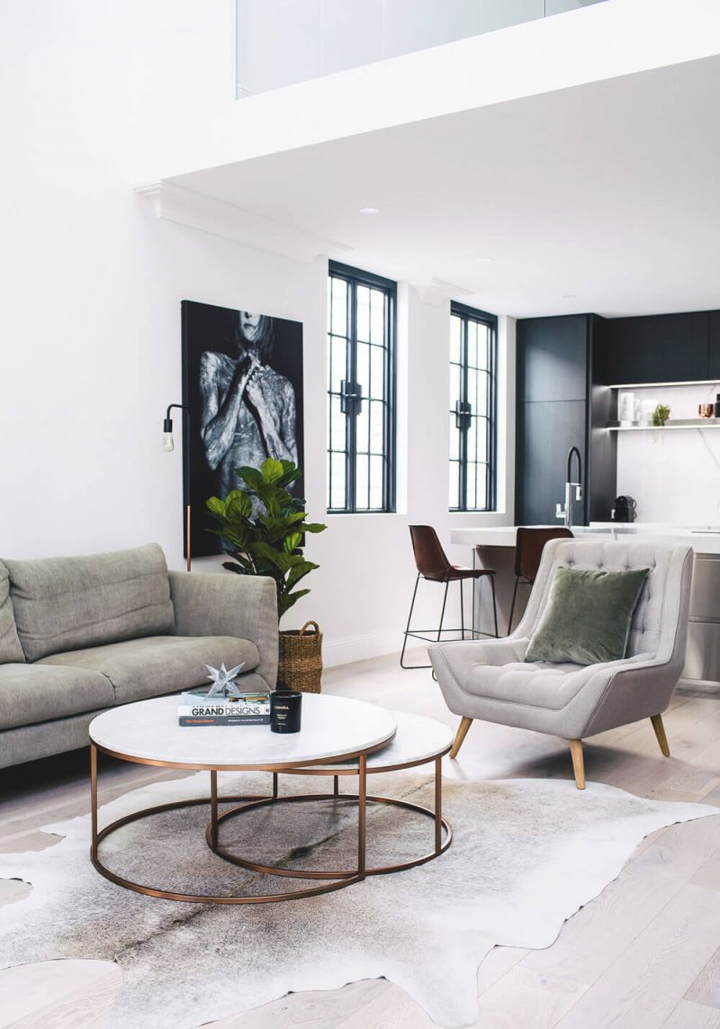 Classic Color Combinations For The Living Room | Nonagon.style with Monochrome Living Room Decorating Ideas