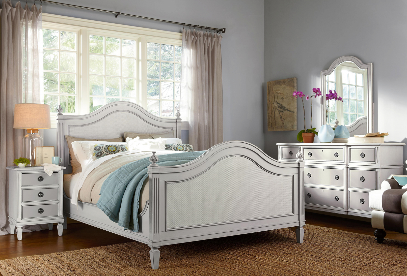 Coastal Beach Cottage White Bedroom Set Zin Home Intended For Lovely Coastal Bedroom Furniture Sets Awesome Decors