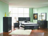 Coaster Grove Panel Bedroom Set In Black 201651 intended for Elegant Black Bedroom Furniture Set