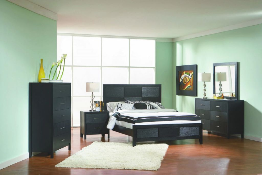 Coaster Grove Panel Bedroom Set In Black 201651 regarding Beautiful Queen Size Bedroom Furniture Sets