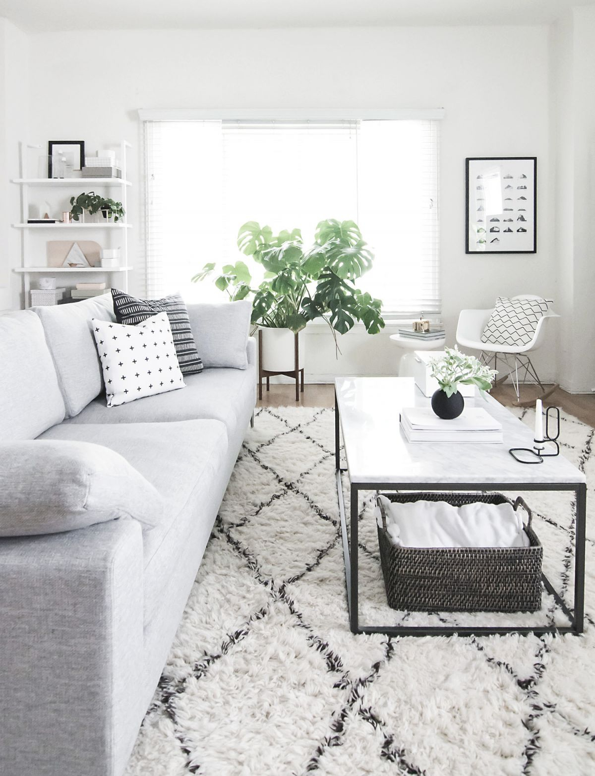 Coffee Table Styling – Homey Oh My within Monochrome Living Room Decorating Ideas