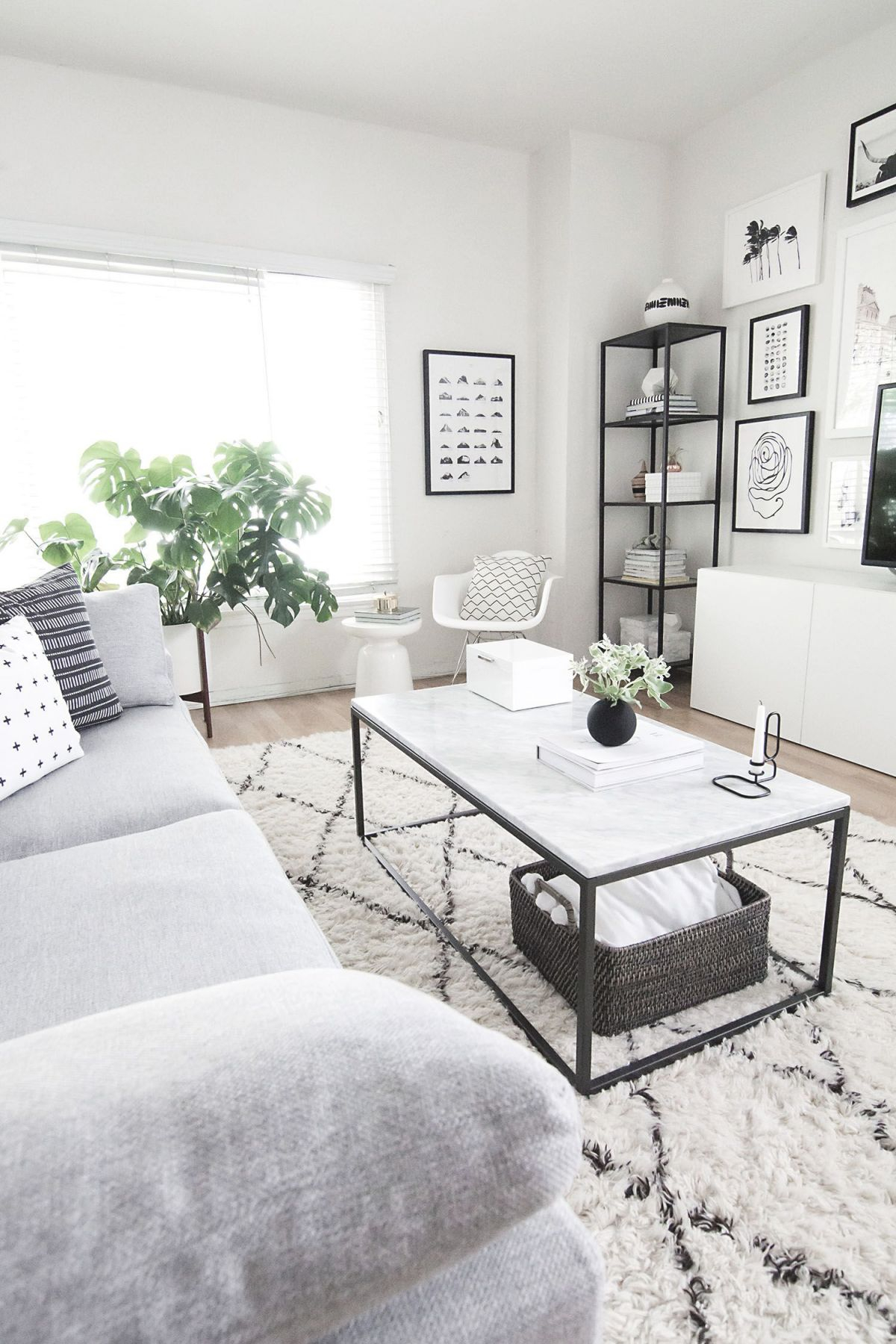 Coffee Table Styling | Room Decor, Living Room Decor, Decor with Elegant Monochrome Living Room Decorating Ideas