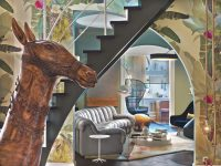 Colorful Eclectic Interior Design Is Collage Of Travels And with Unique Horse Living Room Decor