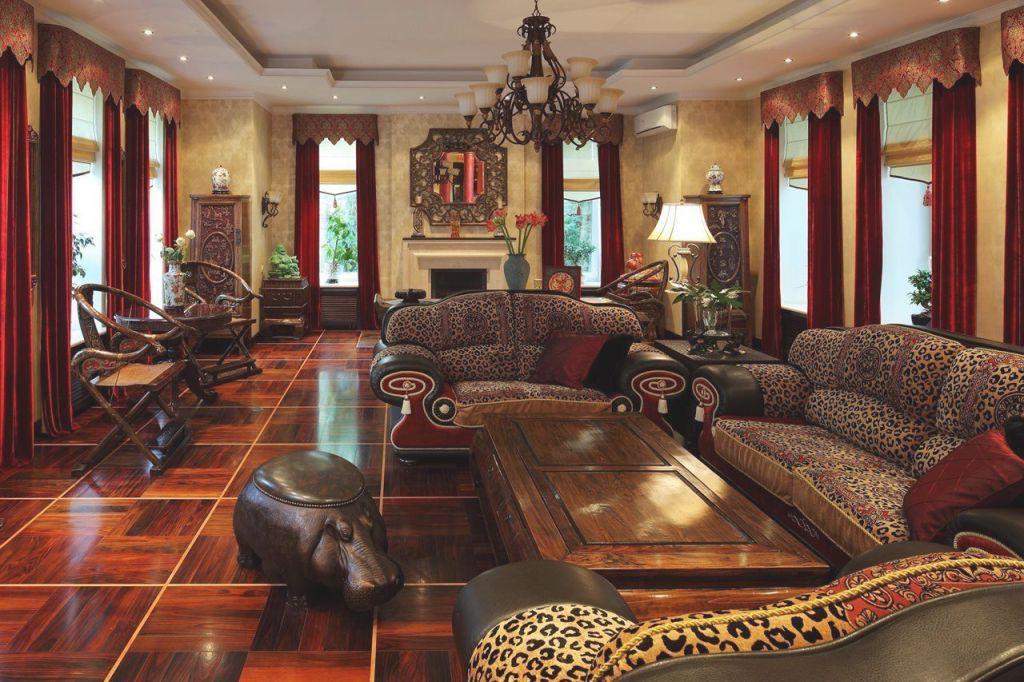 Contemporary African Safari Decor Living Room Ideas | Our ...