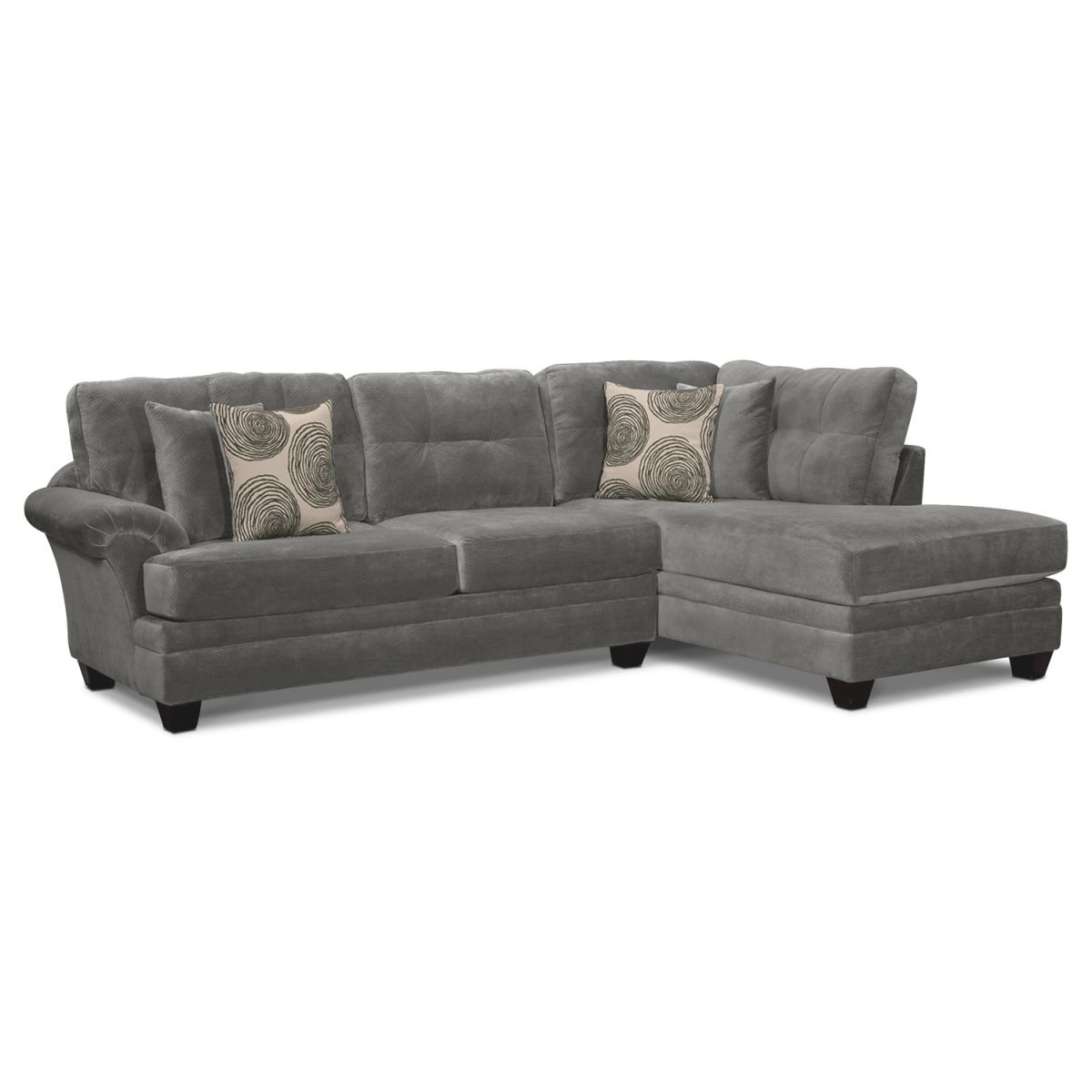 Cordelle 2-Piece Sectional With Chaise inside 2 Piece Sectional With Chaise