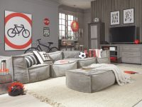 Crash Pad 4 Piece Modular Sectional With Ottoman with Luxury Modular Living Room Furniture