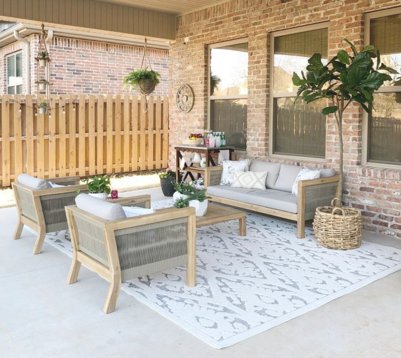 Creating An Outdoor Living Space With At Home - Our Vintage Nest pertaining to Unique Outdoor Living Room Furniture
