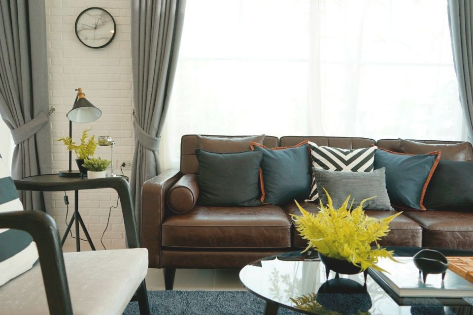 Curtain Color Advice For Dark Brown Furniture | Thriftyfun for Curtains For Living Room With Brown Furniture